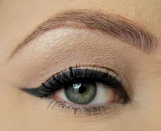 The perfect cat eyeliner is ever fashionable, very flattering for most eye shapes and delivers a sultry, mysterious look even when the rest of your makeup remains low key. You can use any color pencil or gel eye liner to achieve this look. Here are 6 easy steps to achieving the perfect cat eye. I used a simple, black eye pencil: