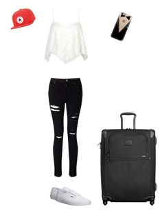 """Untitled #30"" by a-b-c-dddddddd ❤ liked on Polyvore featuring Miss Selfridge, Vans, Tumi, Casetify, Converse, GetTheLook and airportstyle"