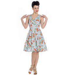HELL BUNNY 50s SUN POLKA DOT 50s KITSCH DRESS UK 6-14