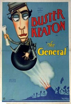 The General is a 1927 American silent film comedy from Buster Keaton. The film flopped when first released but is now regarded as the height of silent film comedy. The film is based on events from America's civil war. Charlie Chaplin, Movie List, Movie Tv, Buster Keaton, Top Comedies, Magic Words, Action Film, Silent Film, Hd 1080p