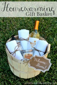DIY Housewarming Gift Basket {with free printable gift tag} | Houston Moms Blog