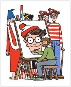 Where's Wally?, published in the United States and Canada as Where's Waldo?, is a series of children's books created by British illustrator Martin Handford. The books consist of a series of detailed double-page spread illustrations depicting dozens or more people doing a variety of amusing things at a given location. Readers are challenged to find a character named Wally hidden in the group