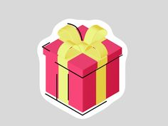 """SINGLE GIF: '""""Gift"""" byNikita MelnikovonDec. 5, 2017. One of the many stickers that are made for my friends from """"Wavy"""". To see more of my work, please follow me: Instagram