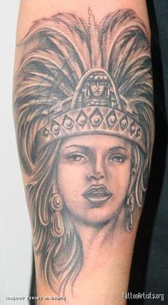 Aztec Princess Tattoos