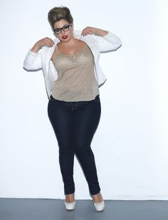 """Brazilian model Fluvia Lacerda: """"My body is not meant to be hidden. Deal with it."""" ... she explains that it's an insult to full-figured women to recommend that they use fashion tricks to create the illusion of slimness. """"I don't WANT clothes that promise to """"slim"""" me, I'm very happy with my PLUS SIZED BODY. I find that tag line offensive…yes, I have said that already…maybe if I repeat enough times people will get it, because I know I'm not alone on this one!"""""""