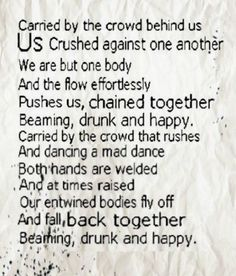 short translation of the song La Foule (the crowd) by the amazing Edith Piaf