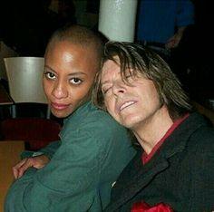 David Bowie and Gail Ann Dorsey