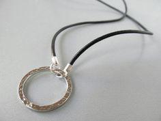 Black Leather Glasses Lanyard - Black Eyeglass Lanyard - Glasses Holder Necklace - Mens Eyeglass Chain - Reading Glasses Cord For Men