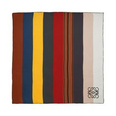 Loewe Scarves & Shawls - 90X90 SCARF MULTICOLOR STRIPES Multicolour