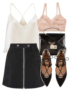 """""""Untitled #5613"""" by laurenmboot ❤ liked on Polyvore featuring Topshop, Cosabella and Rebecca Minkoff"""