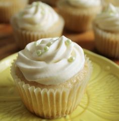 Refreshing cupcakes made with a delicious graham crust and topped with a sugary whipped cream frosting.