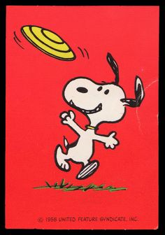 Snoopy's flying frisbee