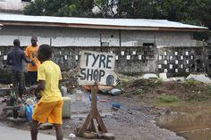 Tyre Shop!  #sahbusearch #liberia  #signsofliberia #tire #shop Tyre Shop, Liberia, Shopping