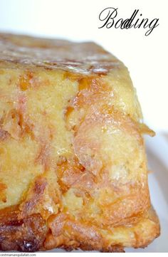 BODDING BRUXELLOIS (Brussels Bread Pudding) (Recipe in French)