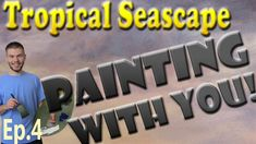 """Have you ever painted a seascape but have trouble highlighting the wave without it getting muddy? Join us in Episode 4 of the Tropical Seascape """"Painting with You"""" series and learn how to add effective highlights to your own seascape paintings! Don't forget to vote at the end of this video to see how you would like this seascape painting to continue. To vote, please visit: www.paintwithkevin.com/vote"""