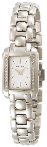 Seiko Women's SUJF39 Diamond Accented Silver-Tone Watch Seiko. $347.75. Reliable Japanese-quartz movement. Stainless steel case and bracelet. Curved hurdle crystal. Water resistant up to 99 feet (30 M). Reliable quartz movement. Save 35%!