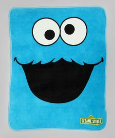 Take a look at this Cookie Monster Plush Throw Blanket by Sesame Street on #zulily today!