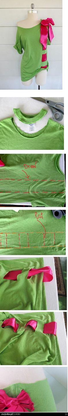 cute way to remake a old shirt:)