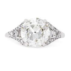 Amazing vintage Art Deco diamond engagement ring // Geneva from Trumpet & Horn