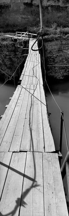 Josef Koudelka - Bosnia Herzegovina,  Mostar. 1994. One of the bridges over the Neretva river. S)