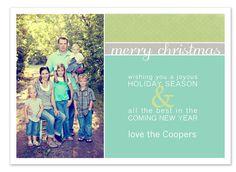 digital christmas card template