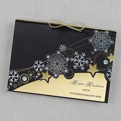Snowflake Spectacle Holiday Card weddingneeds.carlsoncraft.com