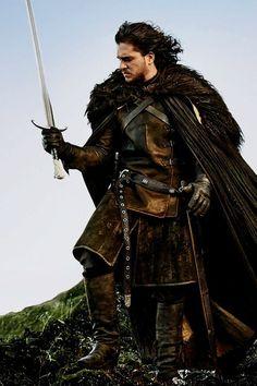 Kit Harington - Jon Snow game of Thrones Kit Harington, Game Of Thrones Saison, Got Game Of Thrones, Winter Is Here, Winter Is Coming, Larp, Costumes Game Of Thrones, Game Of Thrones Cosplay, Jon Schnee