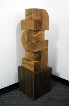 "Arturo Luz. ""Modula 2"" 12"" x 12"" x 36"" Molave Wood 2013"