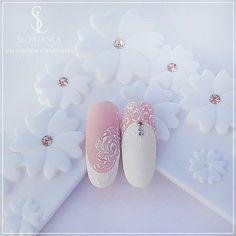 Deep french nails classy fun french nail tips designs at h Simple Wedding Nails, Natural Wedding Nails, Wedding Nails Design, Trendy Wedding, Rose Nail Art, Gel Nail Art, French Nails, Nail Tip Designs, Nagel Hacks