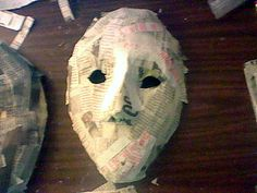 How to Make a Simple Paper Mache Mask - Ultimate Paper Mache