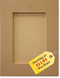 Replacement kitchen cabinet doors - MDF Shaker style. $11.95