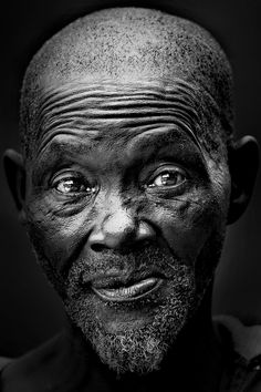 The old man by Pieter Oosthuysen, via 500px, old guy, wrinckles, beard, lines of life, wisdom, experienced, powerful face, intense eyes, portrait, b/w