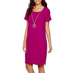 jcpenney.com | Alyx® Short-Sleeve Necklace Shift Dress