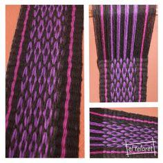 el telaret: Ñe Luan - Ojo de Guanaco Inkle Weaving, Inkle Loom, Tablet Weaving, Ropa Free People, Textiles, Weaving Patterns, Making Out, Knit Crochet, Knitting