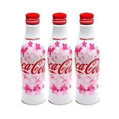 COCA COLA Japanese Sakura Design 2017 Spring Limited Edition – Set of 3 Alu Slim Bottle
