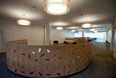 Great reception desk.