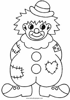 Clown Coloring Pages For Preschoolers Clown Crafts, Circus Crafts, Carnival Crafts, Carnival Themes, Circus Theme, Colouring Pages, Coloring Books, Clown Images, Carnival Birthday Parties