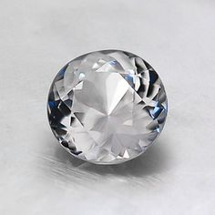 6mm Unheated White Round Sapphire #BrilliantEarth