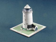 St Agnes Lighthouse Free Building Paper Model Download -
