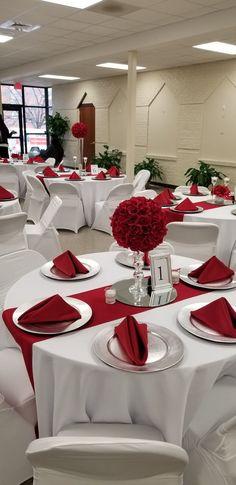 christmas banquet ideas for church | Banquet decoration | Christmas ...