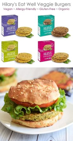 The insanely wholesome Hilary's Eat Well veggie burgers come in several nutritious varieties, all vegan, gluten-free, dairy-free, nut-free & soy-free! Vegan Breakfast Recipes, Lunch Recipes, Real Food Recipes, Vegetarian Recipes, Summer Recipes, Vegan Foods, Vegan Dishes, Dairy Free Recipes, Vegan Gluten Free