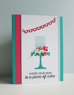 "I love how the simple design of this card lets the color combination ""sing"" . . .                             stamps :  stampin' up, pape..."