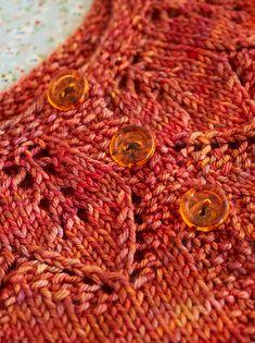 Ravelry: Autumn Leaves pattern by Nikki Van De Car Crochet Baby Cardigan Free Pattern, Baby Sweater Patterns, Knit Baby Sweaters, Knitted Baby Clothes, Knitted Baby Cardigan, Baby Hats Knitting, Knitting For Kids, Baby Knitting Patterns, Baby Knits