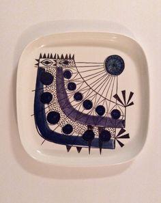 Rorstrand Marianne Westman Tippa Plate by Vintageterrier on Etsy https://www.etsy.com/uk/listing/260890286/rorstrand-marianne-westman-tippa-plate