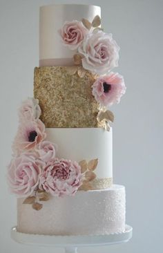 Recommended: Cotton and Crumbs - Pink Wedding Ideas - . Recommended: Cotton and Crumbs – Pink Wedding Ideas – - Blush Wedding Cakes, Pink And Gold Wedding, Elegant Wedding Cakes, Beautiful Wedding Cakes, Wedding Cake Designs, Dessert Wedding, Cake Wedding, Wedding Pins, Cotton And Crumbs