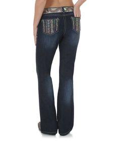 $35! Love this Dark Blue Ombré Rock 47® Bootcut Jeans by Wrangler on #zulily! #zulilyfinds