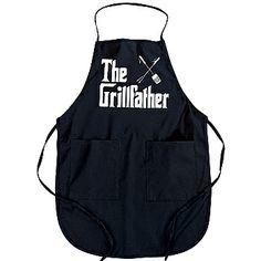 men's barbecue aprons | ... Grillfather Apron Men's Black Hilarious Summer Barbecue Attire | eBay