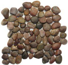 Solistone  Anatolia Pebble Tiles, Pebbles & Stones, Agate Honed, Tumbled, Brown, Natural Stone