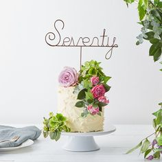 Celebrate your fiftieth with a stylish fifty birthday cake or bouquet topper. 70th Birthday Ideas For Mom, 70th Birthday Parties, Mom Birthday, Birthday Celebration, Fiftieth Birthday, Birthday Cake Decorating, Birthday Cake Toppers, Fifty Birthday, Big Party
