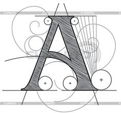 Decorative drawing initial letter A | Stock Vector Graphics | ID 3077872